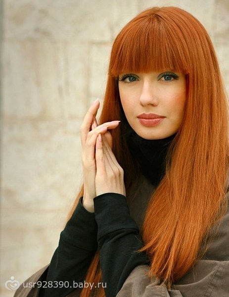 Красивый рыжий цвет волос