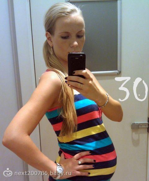 Немножко фото, как мы растем :) мой арбузик с 27 по 32 нед)