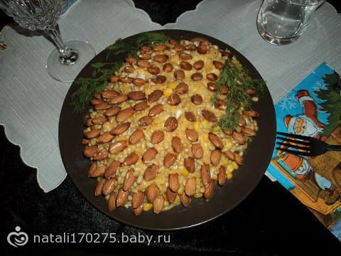 Салаты рецепт кедровая шишка 74