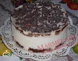 Сеточка из шоколада для торта