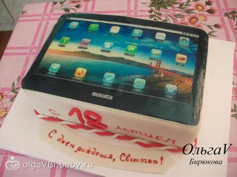 Фото торта планшет