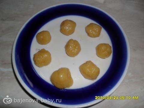 Рецепт горішок зі згущеним молоком