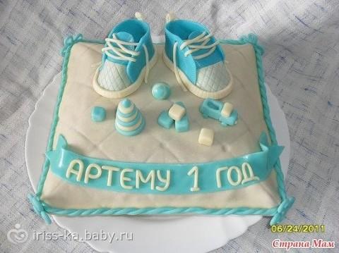 Фото тортов для детей в виде подушки