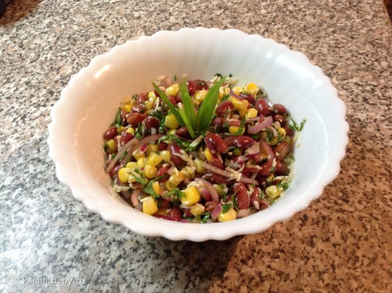 Салат из красной фасоли за 5 минут