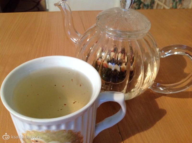Зеленый чай с ароматным яблочком