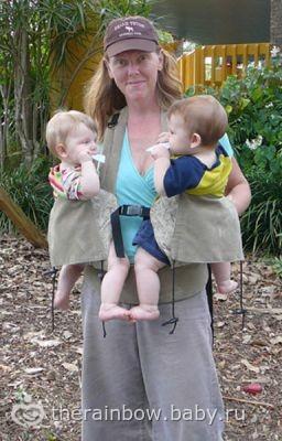 Как носить в слинге двойню? (для подруги Гали). Ну, может быть, кому-то еще пригодится )))