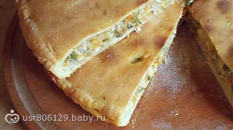 Пирог с курицей новинка к Новому году...)))))))