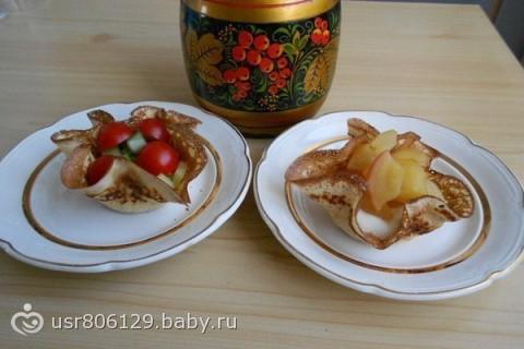 Корзинки из блинчиков...)))